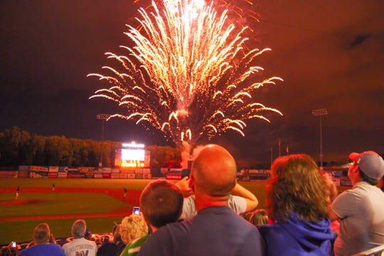 On Friday and Saturday nights, starting at the end of May, fans at Timber Rattlers games get to enjoy fireworks shows.