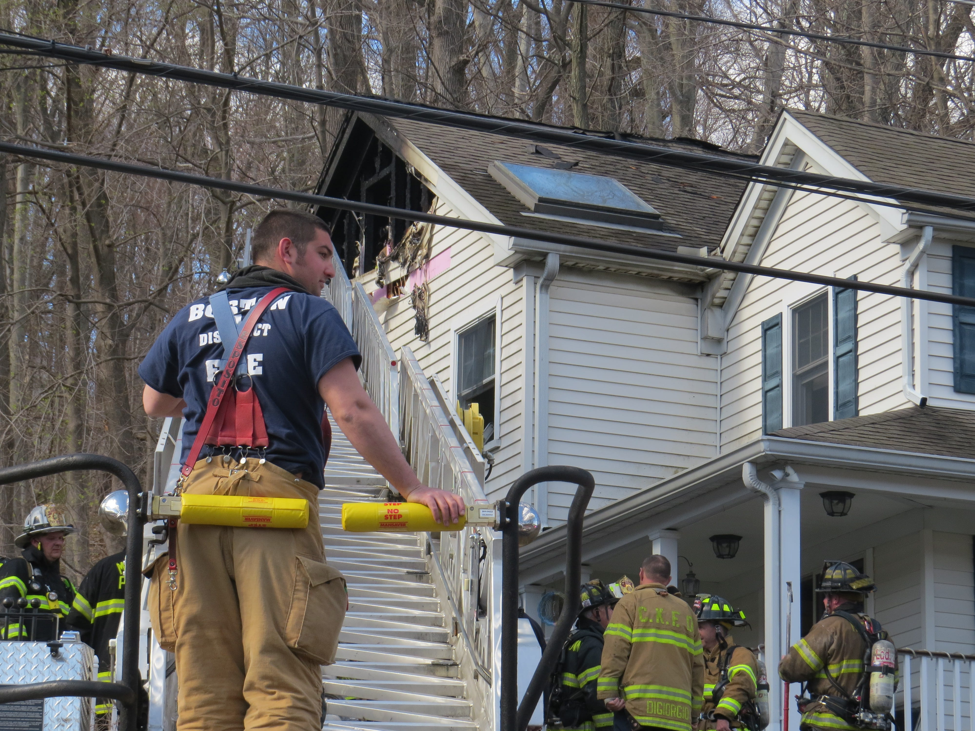 Responders battle a house fire on Route 24 (Mendham Road) in Morris Township. No one was hurt. April 10, 2019