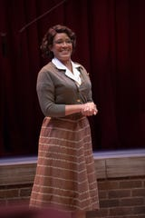 "Tracey Conyer Lee as Ida Green. Rehearsal photos from Alabama Shakespeare Festival's production of George Brant's ""Into the Breeches,"" which runs through May 4."