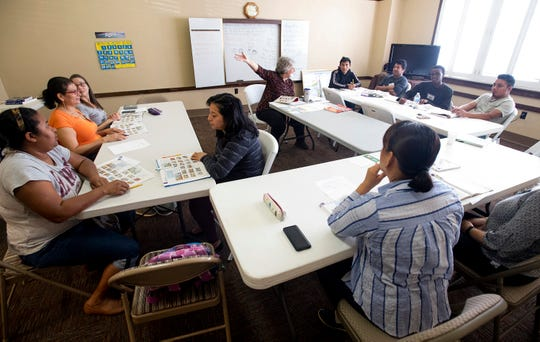 ESL classes of the First Baptist Church is housed in the historic First Presbyterian Church building in Montgomery, Ala., on Wednesday April 10, 2019.
