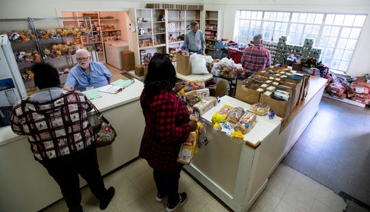 The food shop of the First Baptist Church is housed in the historic First Presbyterian Church building in Montgomery, Ala., on Wednesday April 10, 2019.