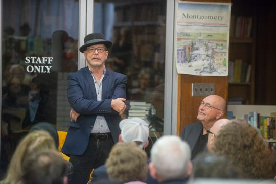 "Director Barry Alexander Brown, left, and author Bob Zellner lead a discussion on the upcoming movie ""Son of the South"" on March 7, 2019, at Read Herring bookstore in Montgomery."