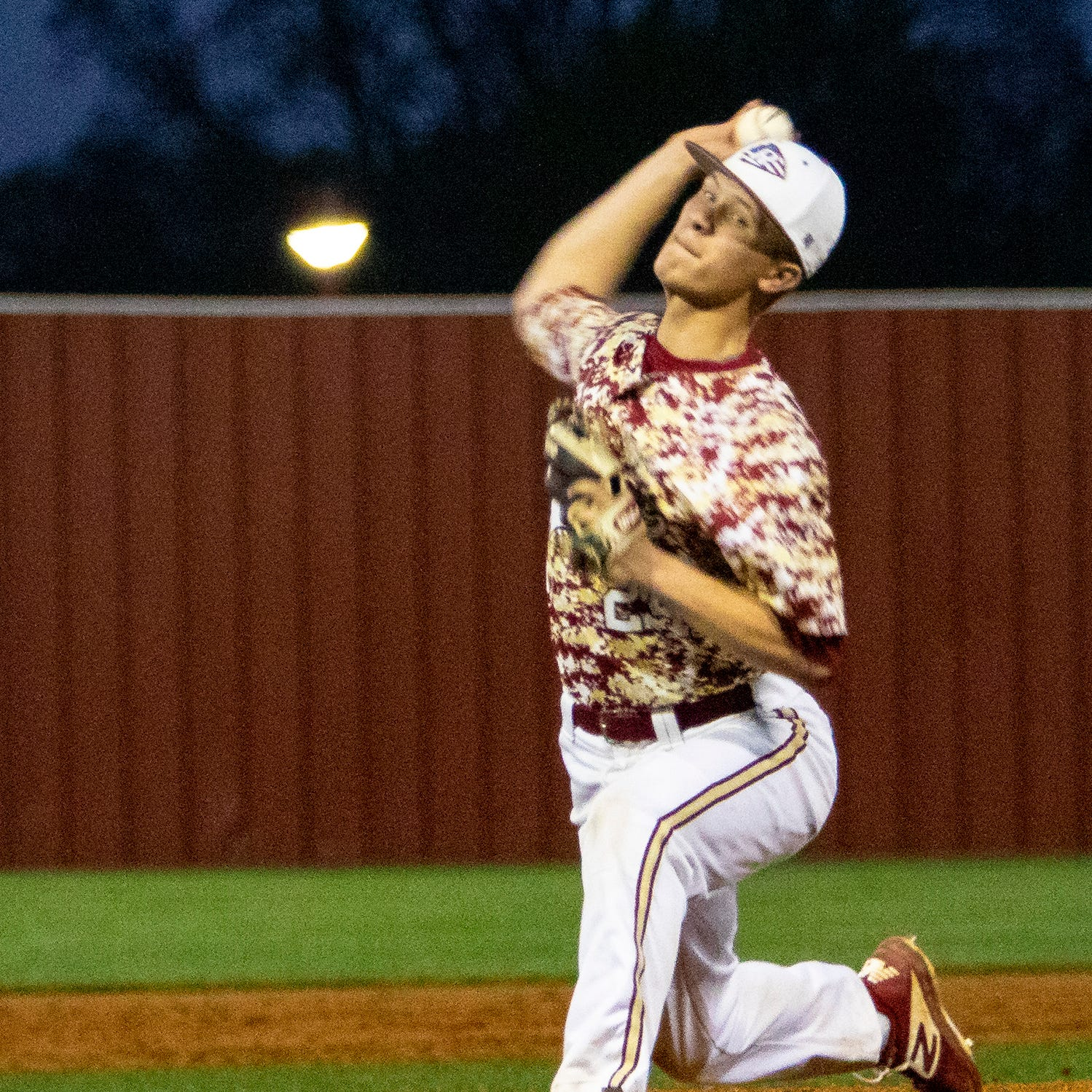 Riverdale's Daniel Dewey fires a pitch during Tuesday's win over La Vergne.