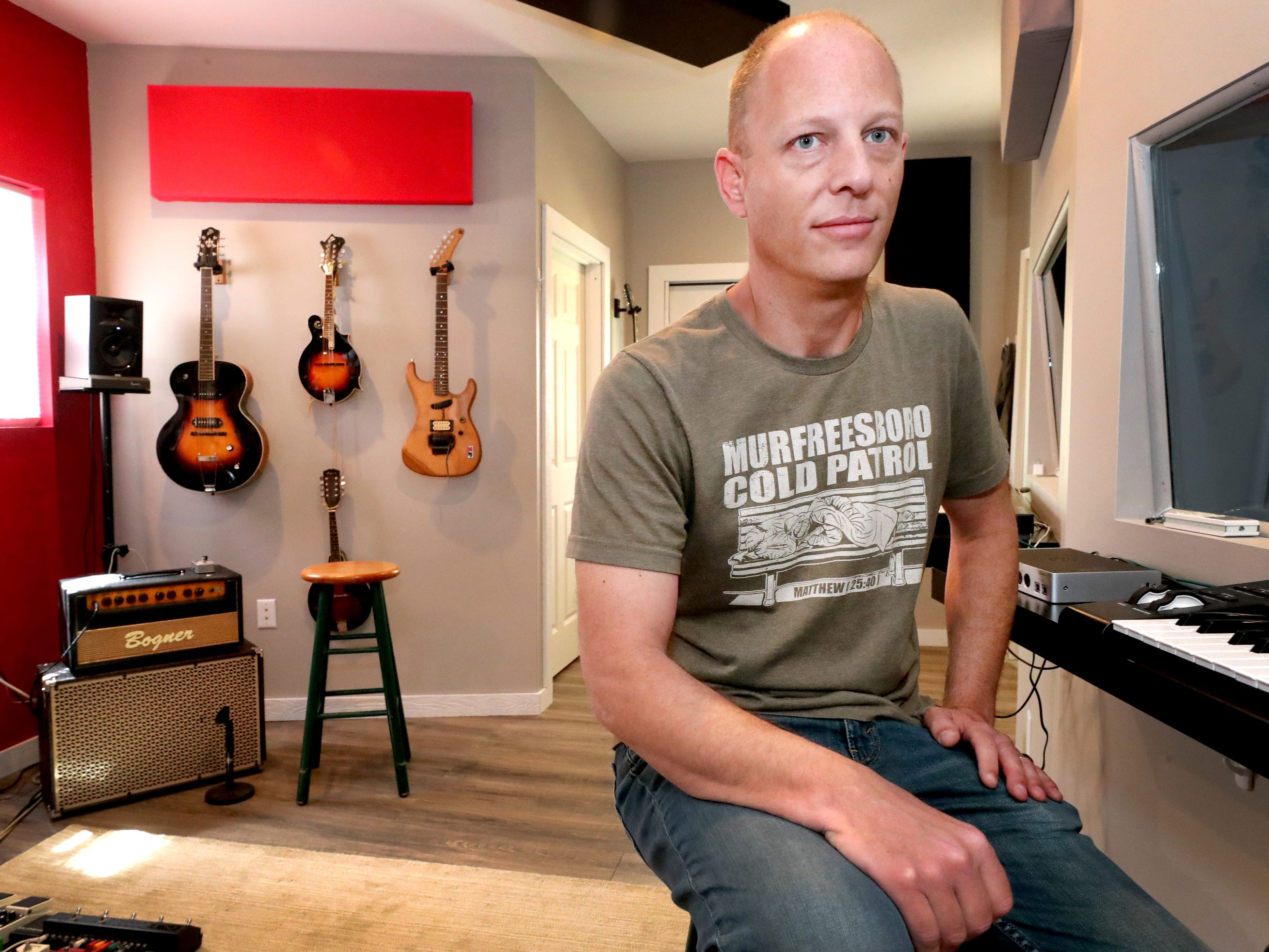 Andy Harper in his studio Limitedwave Recordings on Wednesday April 10, 2019.
