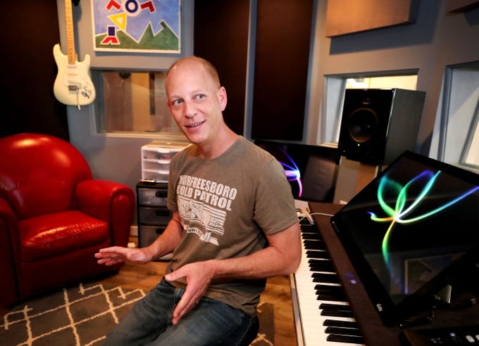 Andy Harper talks about his studio Limitedwave Recordings on Wednesday April 10, 2019, and the variety of projects that he does including music lessons, studio mixing and recording and scoring music for a variety of projects.