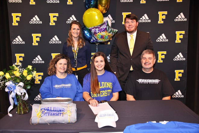 Maddy Simmons a Fairview High Lady Jady Jackets Volleyball outside hitter recently signed with Spalding University.