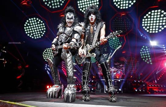 Rock legends KISS plays Riverbend on Thursday.