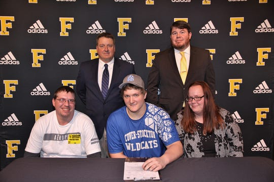 Fairview High football defensive lineman Stephen Jewell recently signed with Culver-Stockton College.