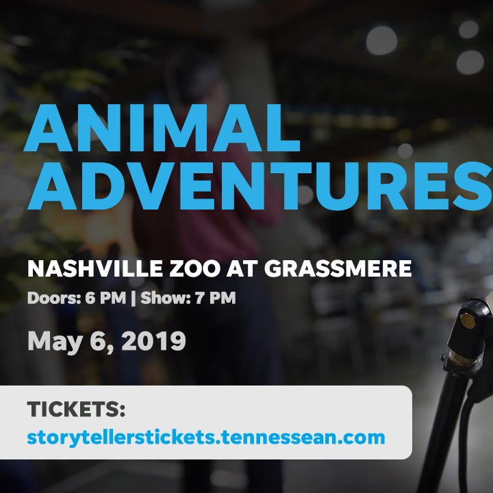 Sharks, goats and therapy dogs: Oh, my! Next Nashville Storytellers features animal adventures