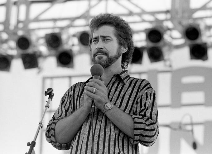 sports shoes 80179 c9bce Earl Thomas Conley performs at the Nashville Songwriters Association  showcase June 8, 1984, during