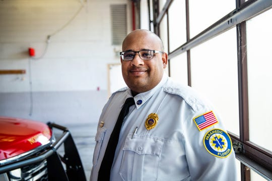Eloy Ricardo at North Collier Fire Control and Rescue District on April 10, 2019. Ricardo will soon be sworn in as the new chief at the facility.