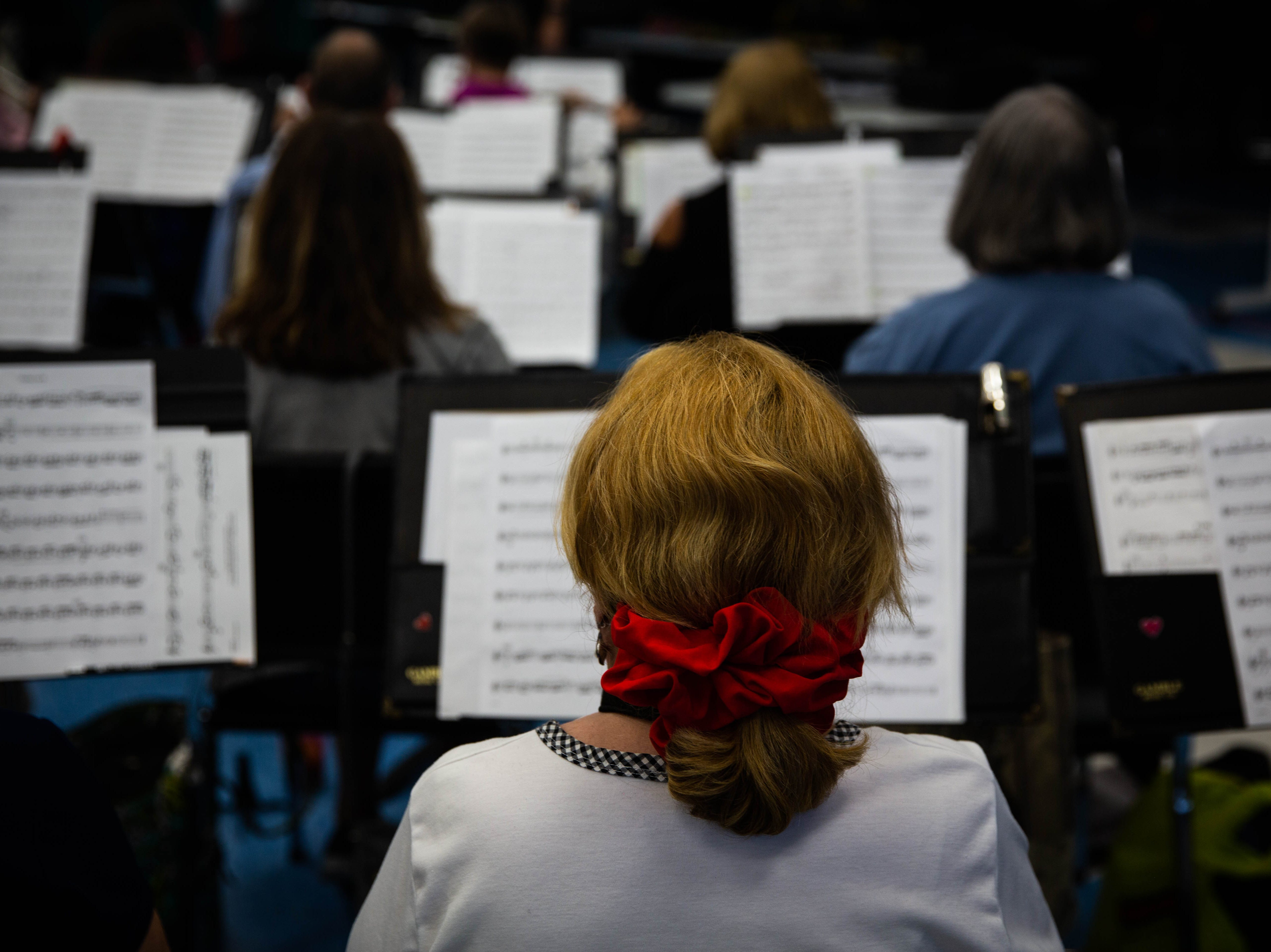 The Naples Concert Band practices at Gulfview Middle School on April 9, 2019.