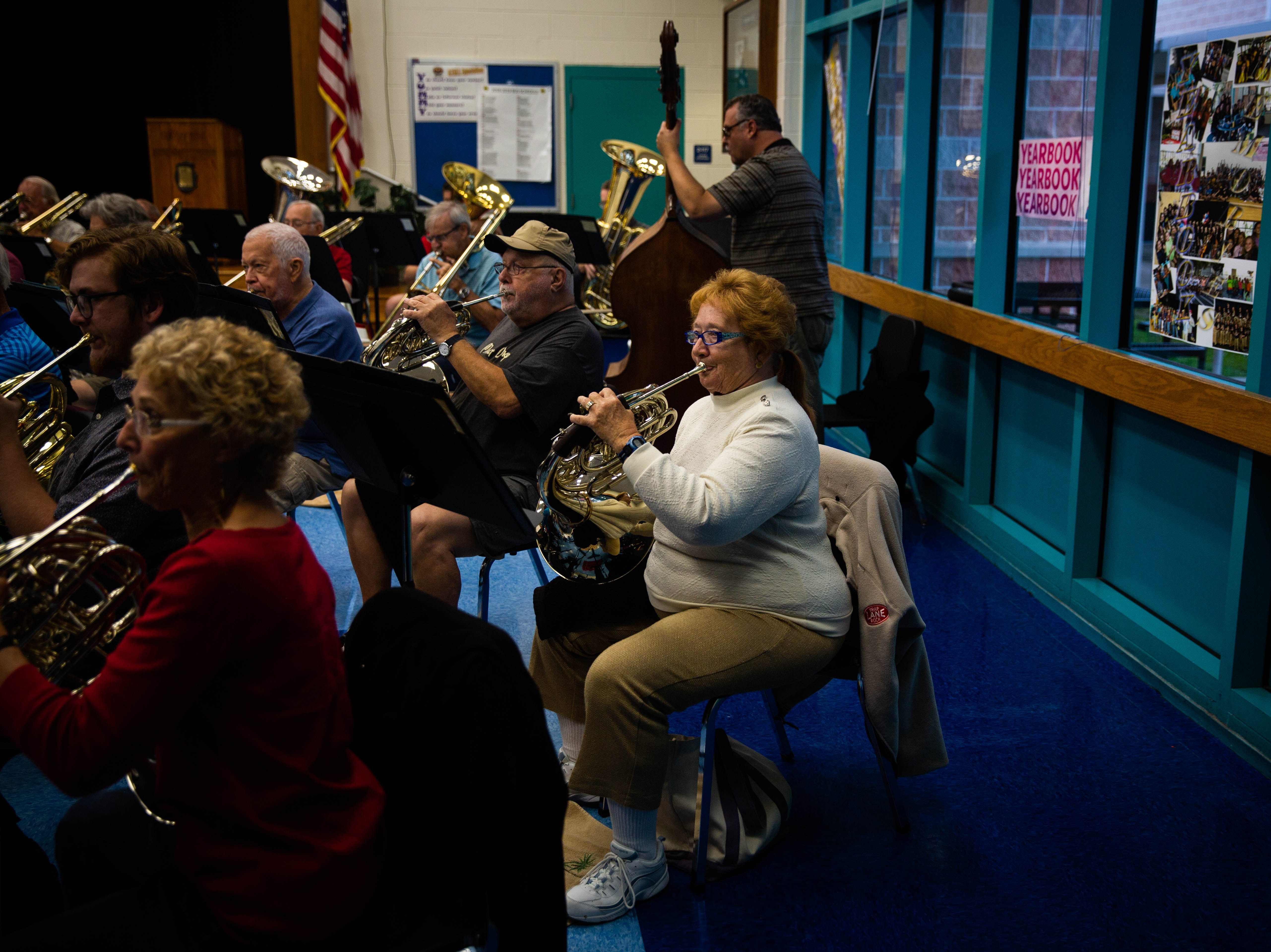 The Naples Concert Band practices at Gulfview Middle School on April 9, 2019. This was the last practice they will have at the school, where they have been practicing for 40 years.