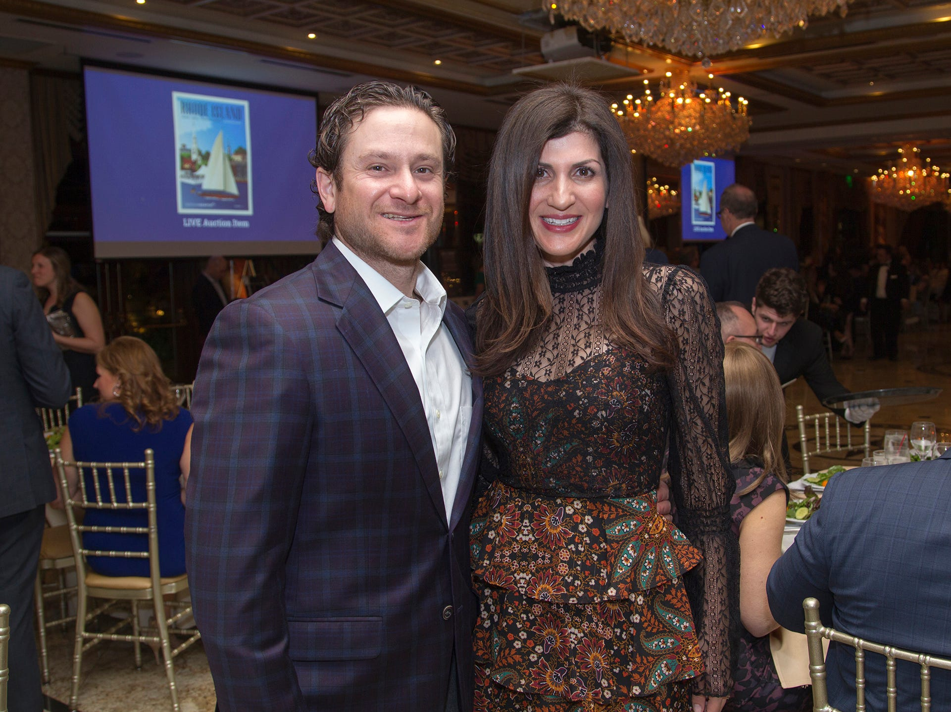 Greg and Shadee Barkin. Upper Saddle River Education Foundation hosted its Town Night Out Gala at Seasons in Washington Twp. 04/06/2019