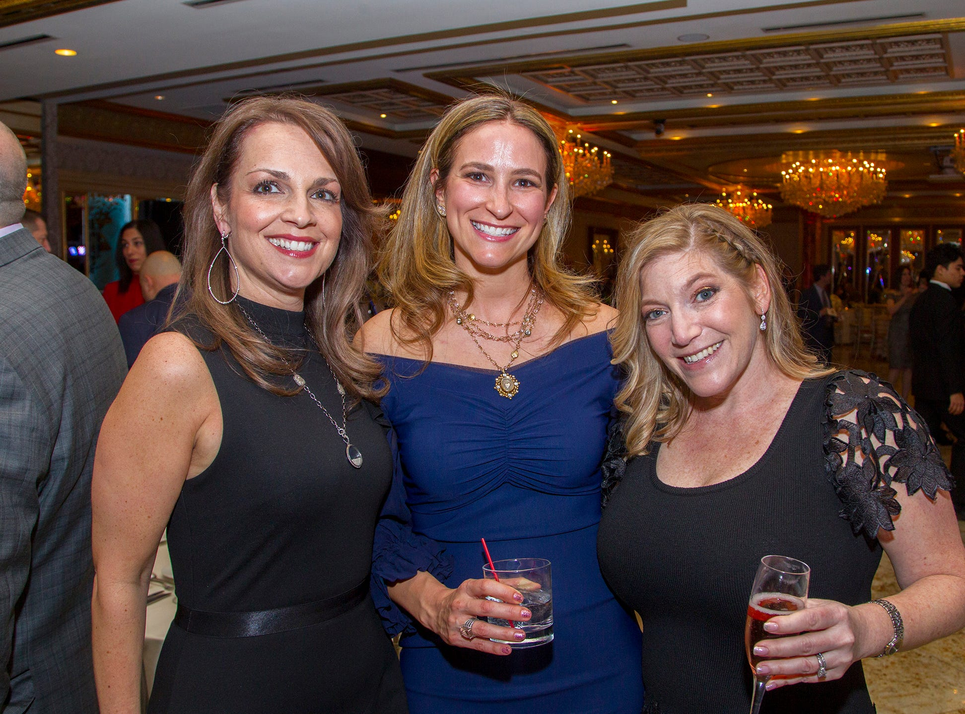 Habrielle Jens, Jennifer Politis, Jen Altman. Upper Saddle River Education Foundation hosted its Town Night Out Gala at Seasons in Washington Twp. 04/06/2019