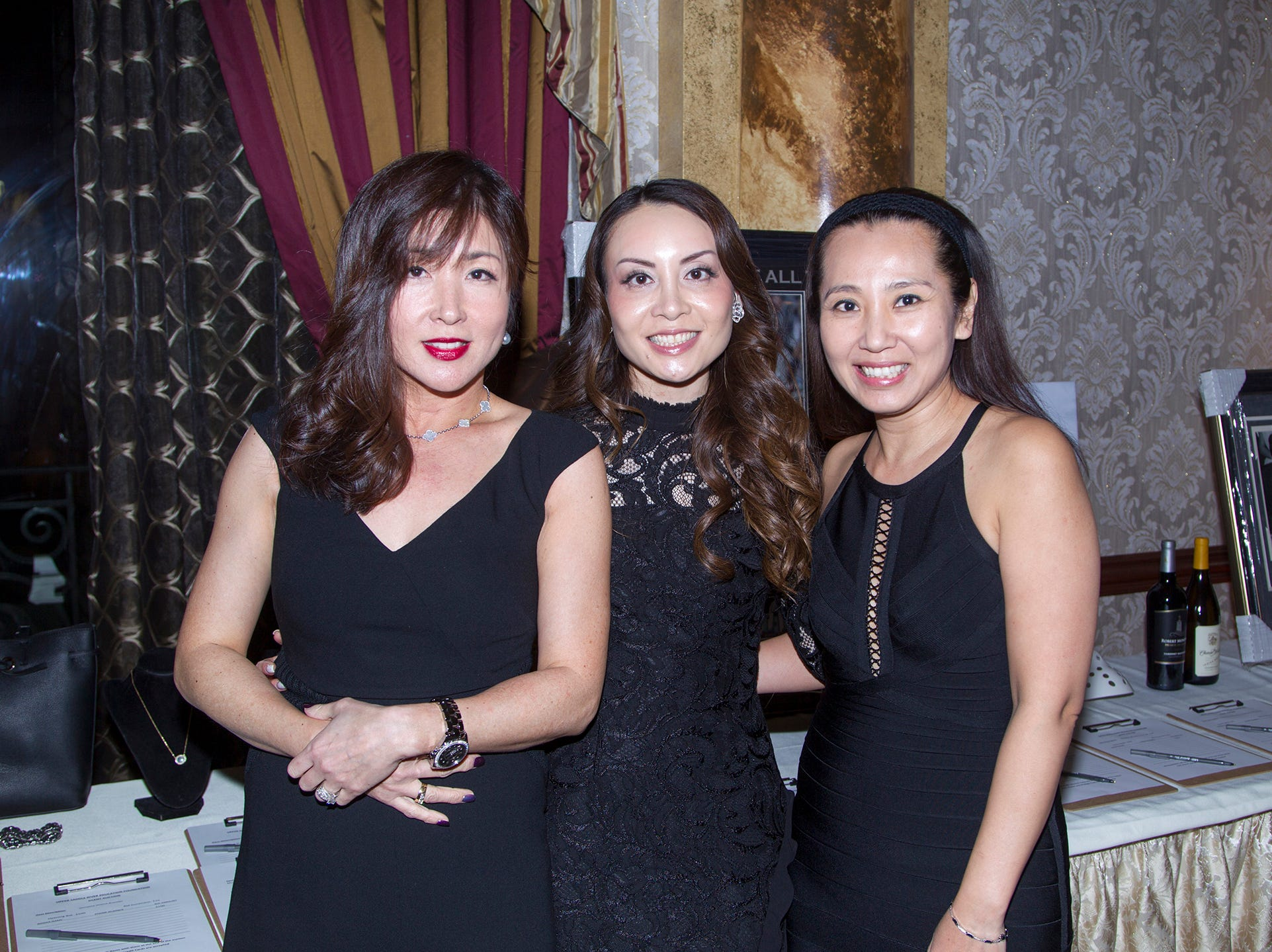Syaci Choi, Anna Lin, Nina Pollak. Upper Saddle River Education Foundation hosted its Town Night Out Gala at Seasons in Washington Twp. 04/06/2019