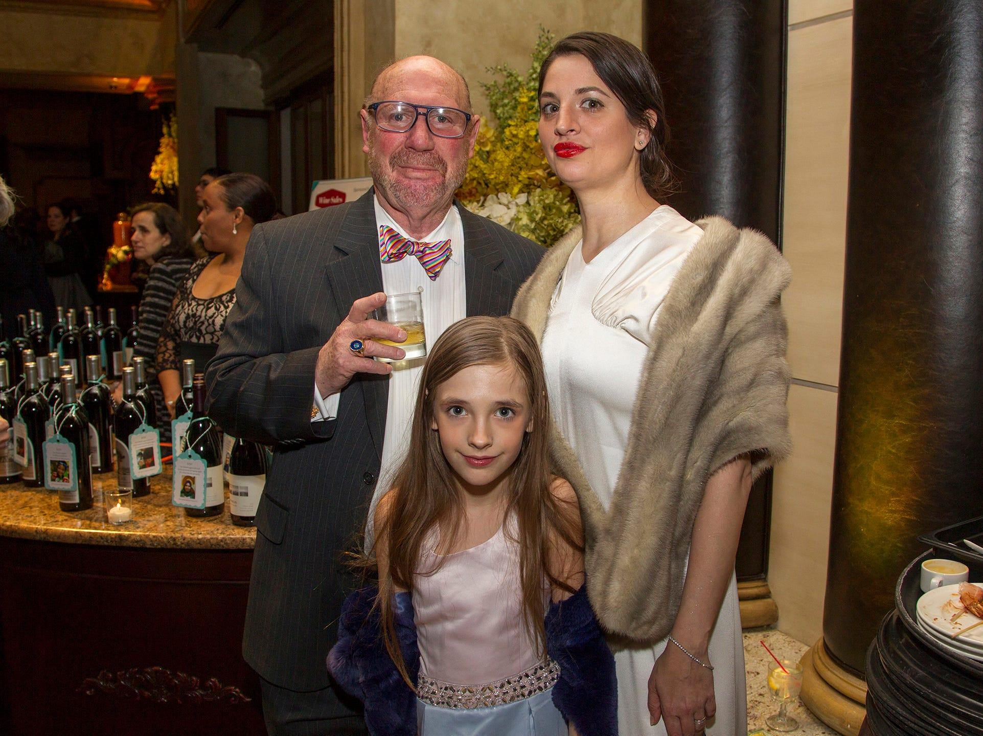 Pror Faust, Estella Valverde, Elizabeth Valverde. Oasis held its 23rd annual Gala of Hope at The Venetian in Garfield. 04/05/2019