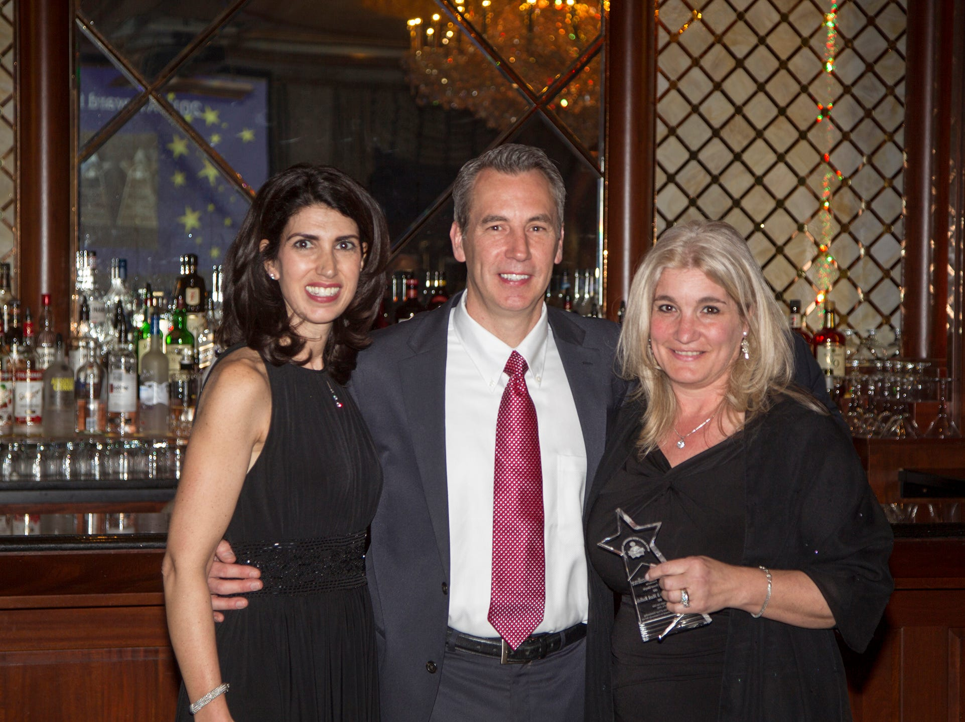 Karen Mueller, Christine and Dante Ferrarie. Upper Saddle River Education Foundation hosted its Town Night Out Gala at Seasons in Washington Twp. 04/06/2019