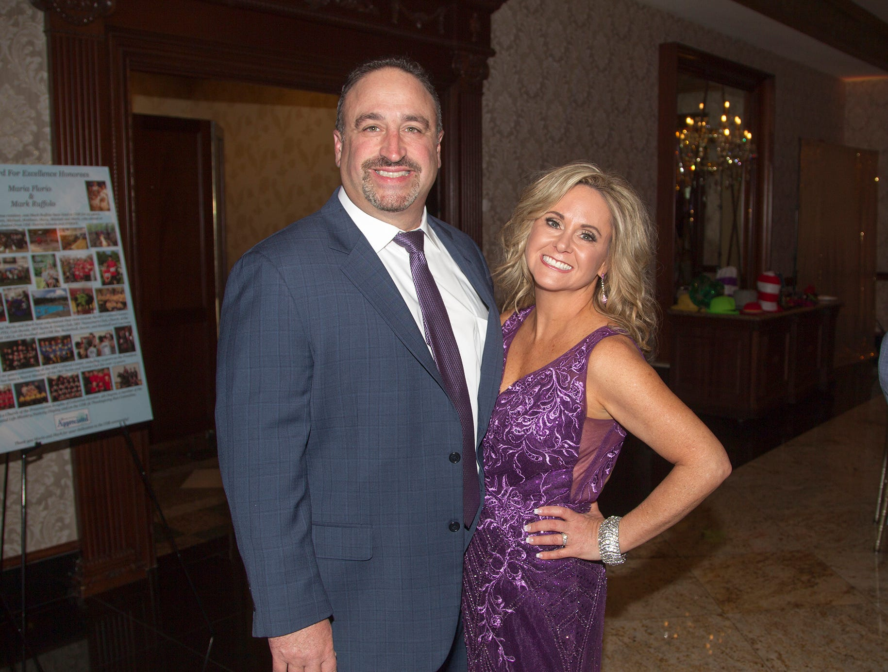 Honorees Ron and Lorraine Dario. Upper Saddle River Education Foundation hosted its Town Night Out Gala at Seasons in Washington Twp. 04/06/2019