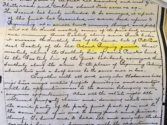 New Milford Councilwoman Hedy Grant found a reference in an 1883 deed for her home to a cemetery near her home where African-Americans could be buried.