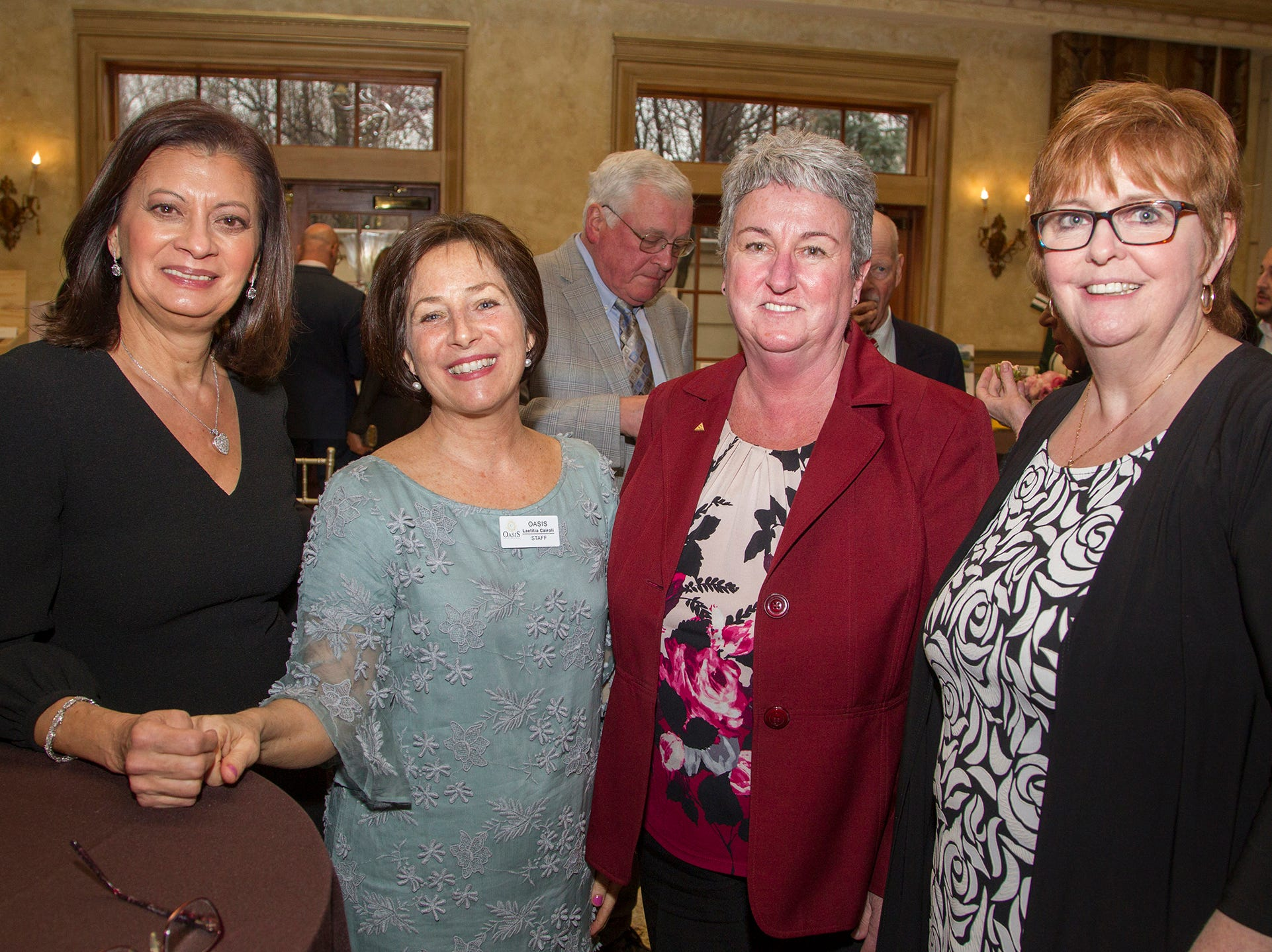 Lillian Bryan, Laetitia Cairoli, Cindy Perrotta, Judy Keyes. Oasis held its 23rd annual Gala of Hope at The Venetian in Garfield. 04/05/2019