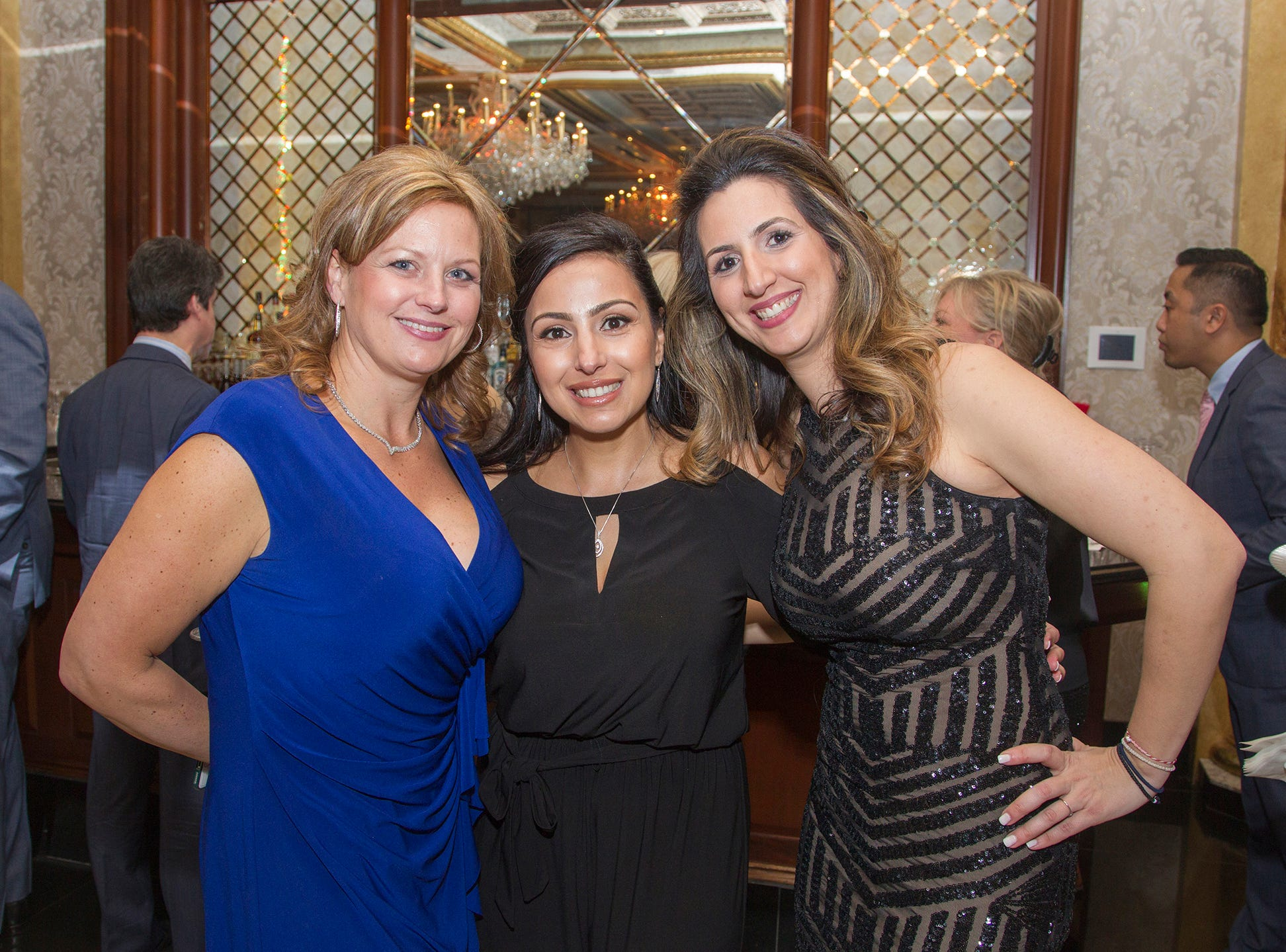 Angelica Degenaars, Luz Terranova, Pepina Anastasopoulos. Upper Saddle River Education Foundation hosted its Town Night Out Gala at Seasons in Washington Twp. 04/06/2019