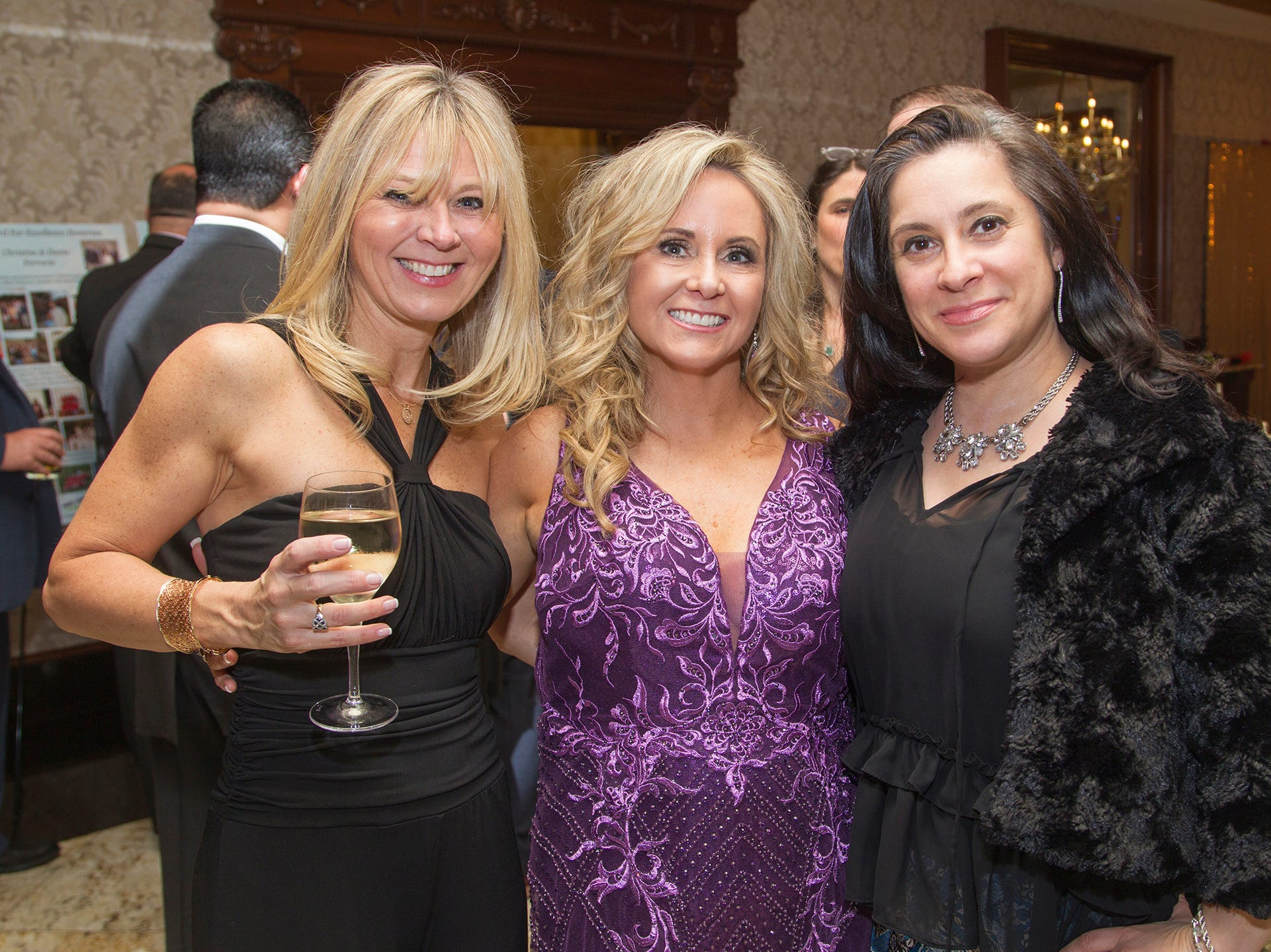 Natalie Cuttone-Saadi, Lorraine Dario, Patty DeMaria. Upper Saddle River Education Foundation hosted its Town Night Out Gala at Seasons in Washington Twp. 04/06/2019