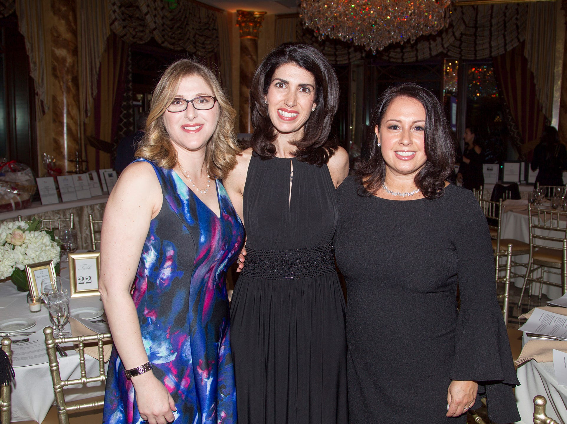 Susan Fein, Karen Mueller, Stacy Ceslowitz. Upper Saddle River Education Foundation hosted its Town Night Out Gala at Seasons in Washington Twp. 04/06/2019