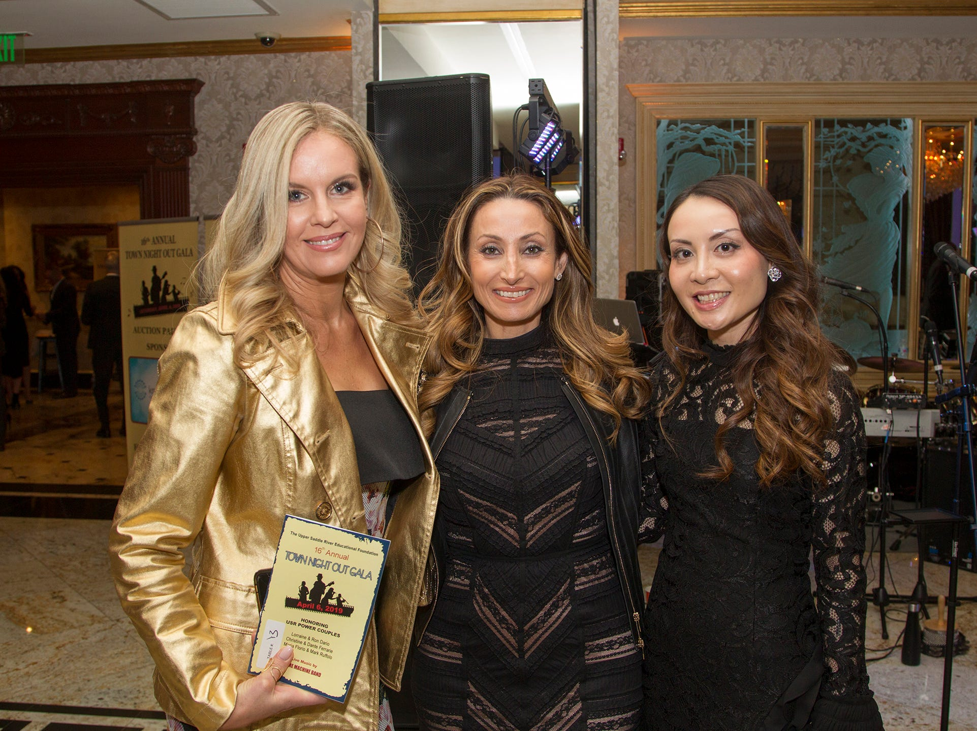 Laura Ruiz, Allina Gamburg, Anna Lin. Upper Saddle River Education Foundation hosted its Town Night Out Gala at Seasons in Washington Twp. 04/06/2019