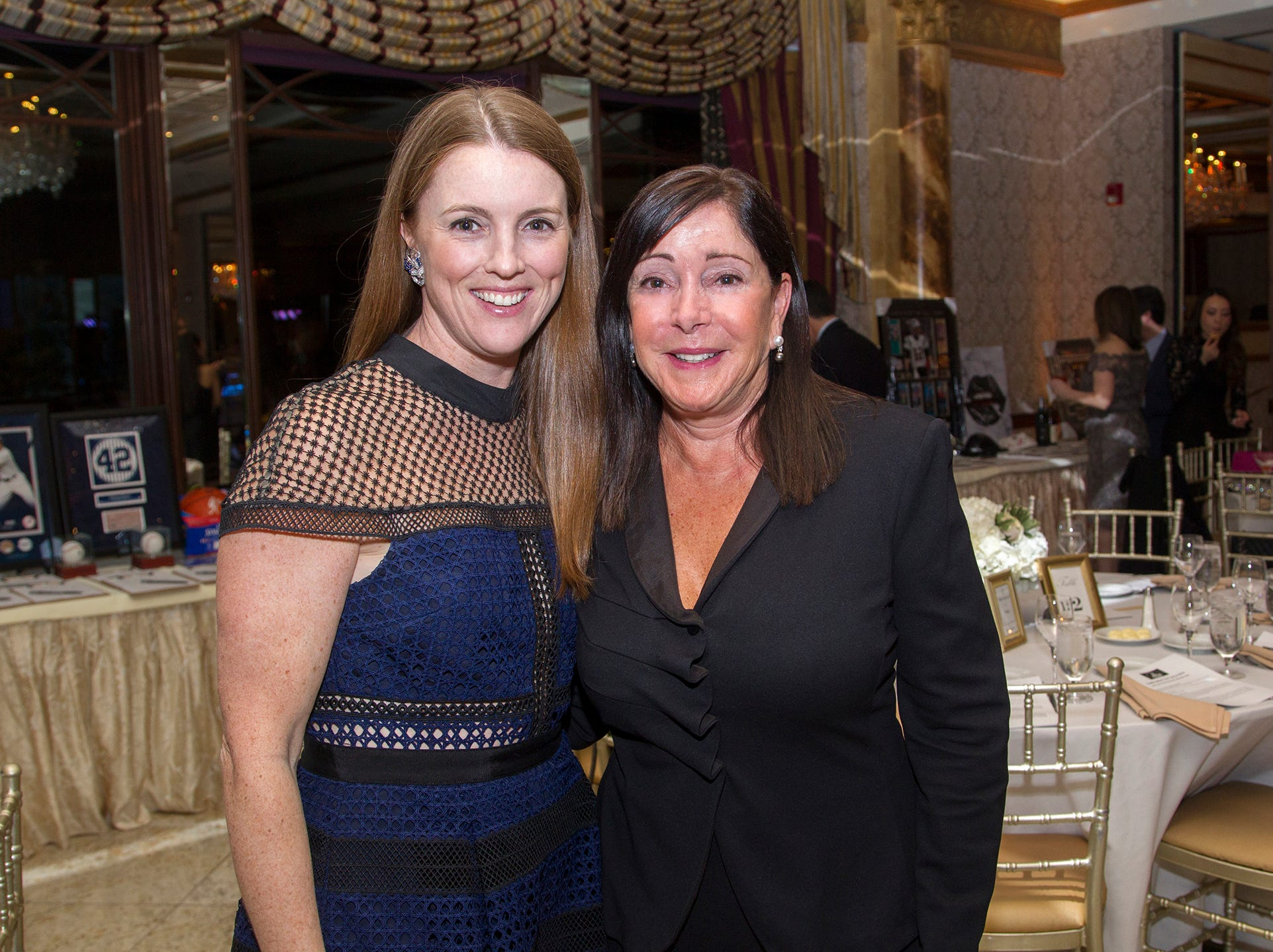 Lauren Wright, USR Mayor Joanne L. Minichetti. Upper Saddle River Education Foundation hosted its Town Night Out Gala at Seasons in Washington Twp. 04/06/2019