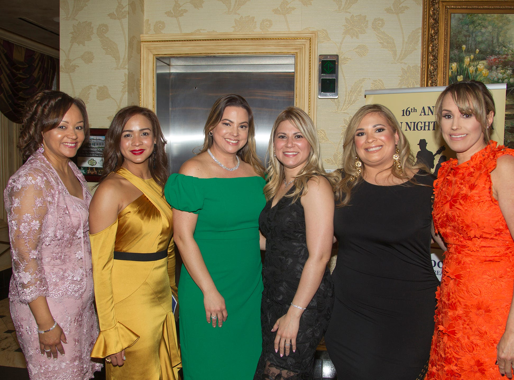 Sandra Pantello, Mildred Hsu, Tania Sanchez, Ivonne Chaudjry, Ingrid Estevez, Dana Herrera. Upper Saddle River Education Foundation hosted its Town Night Out Gala at Seasons in Washington Twp. 04/06/2019