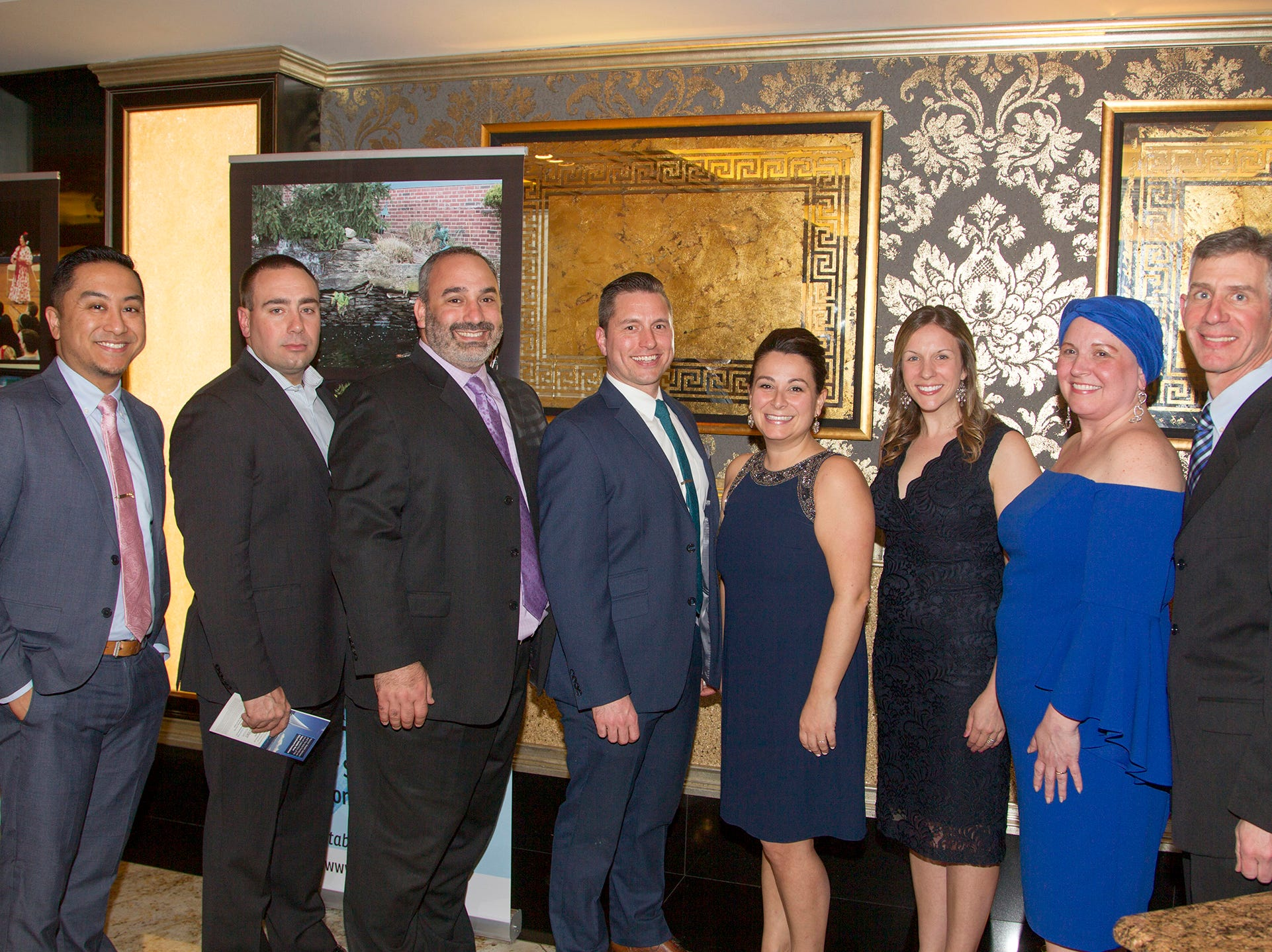 Mike Padilla, Mike Desocio, Dave Kaplan, Jim Dunn, Amy D'Ambola, Devin Severs, Elizabeth Ullrich, Dan Cazes. Upper Saddle River Education Foundation hosted its Town Night Out Gala at Seasons in Washington Twp. 04/06/2019