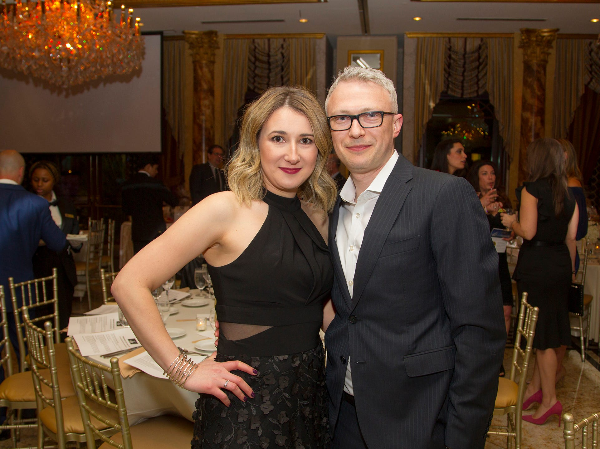Arkady and Jenny Guldnstein. Upper Saddle River Education Foundation hosted its Town Night Out Gala at Seasons in Washington Twp. 04/06/2019