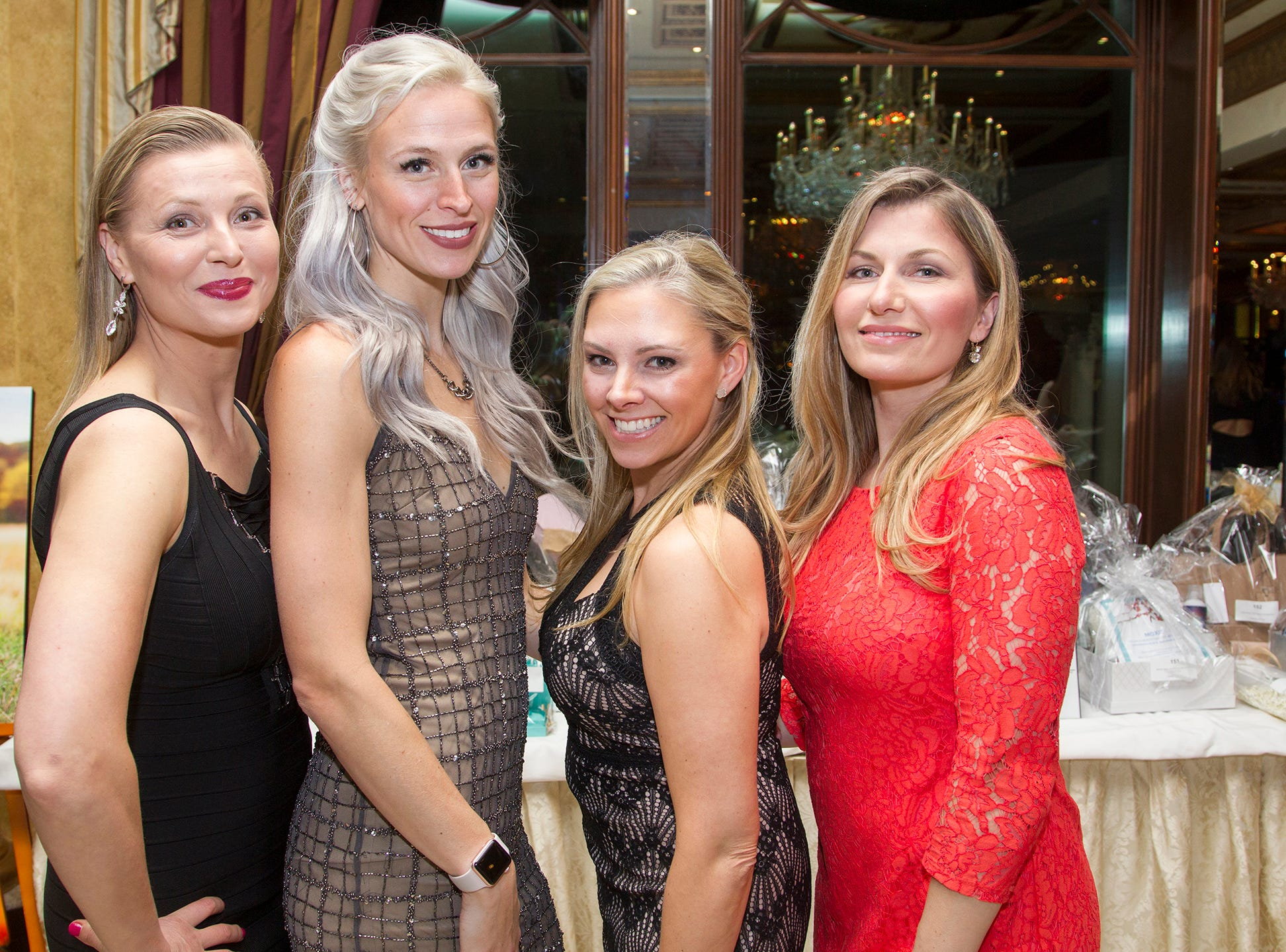 Berta Savreski, Kaitlin Diaz, Gina Kehoe, Orena Rito. Upper Saddle River Education Foundation hosted its Town Night Out Gala at Seasons in Washington Twp. 04/06/2019