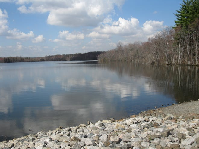 The Upper Lake at the Franklin Lakes Nature Preserve.