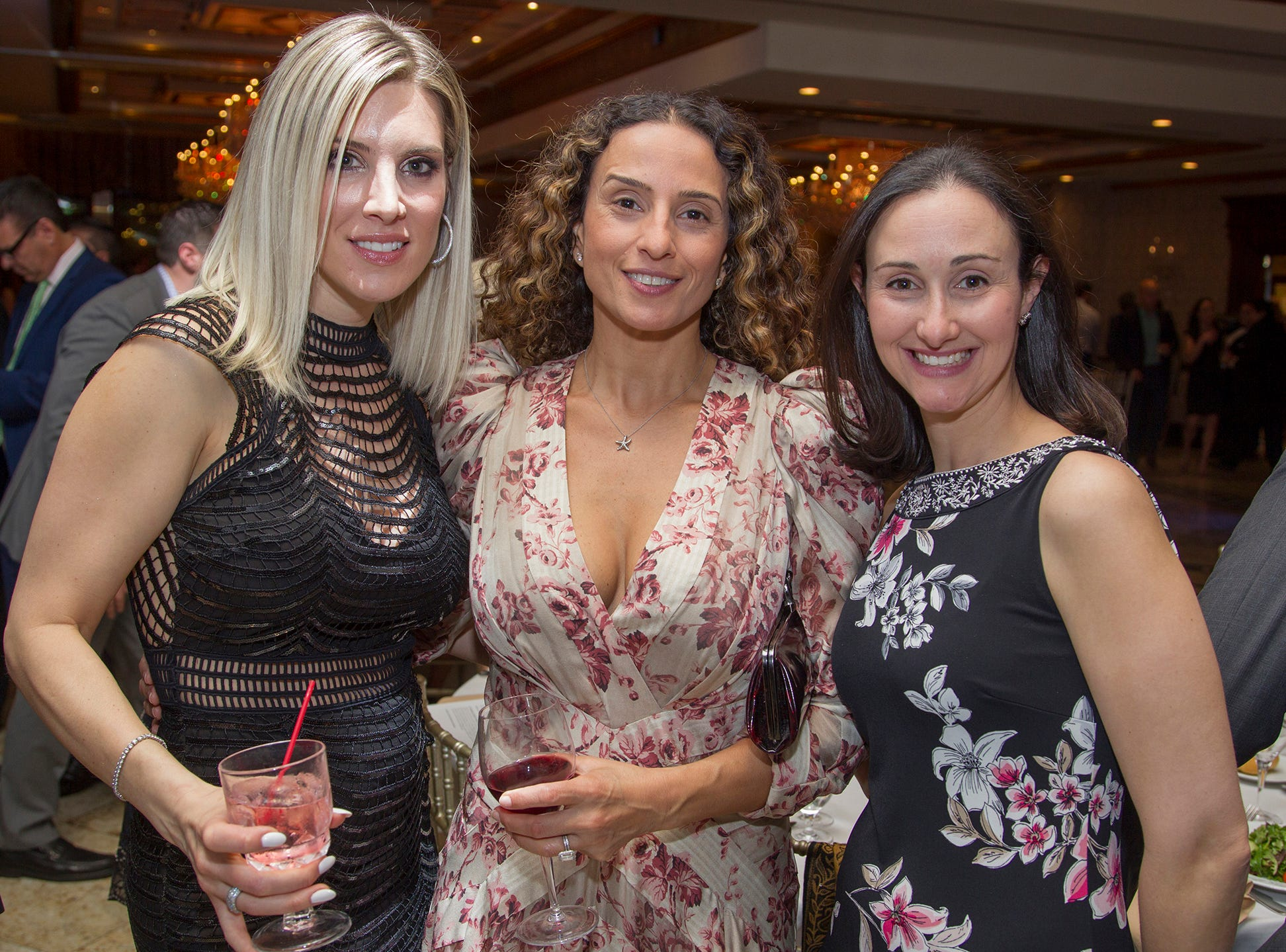 Eva Petrone, Nilu Cividini, Jennifer Waldbaum. Upper Saddle River Education Foundation hosted its Town Night Out Gala at Seasons in Washington Twp. 04/06/2019