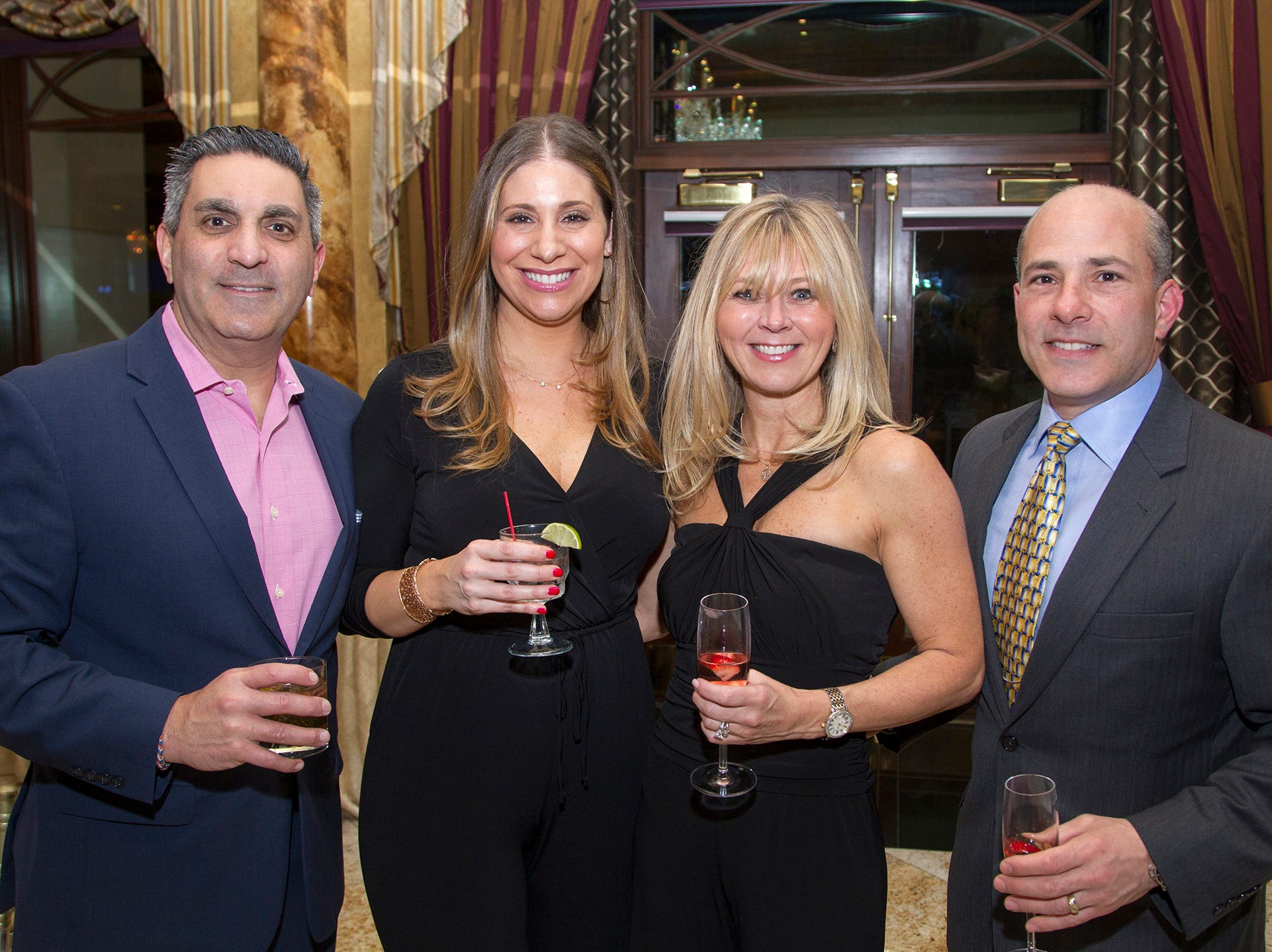 Mark Anastasi, Angela Anastasi, Patty DeMaria, Al DeMaria. Upper Saddle River Education Foundation hosted its Town Night Out Gala at Seasons in Washington Twp. 04/06/2019