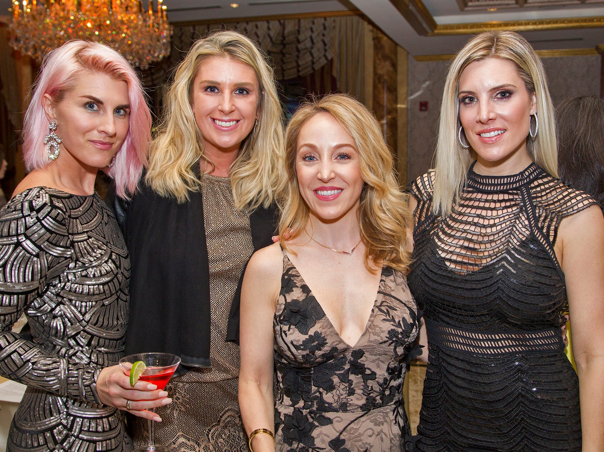 Crystal Parangi, ALlison Viar, enee Buzzelli, Eva Petrone. Upper Saddle River Education Foundation hosted its Town Night Out Gala at Seasons in Washington Twp. 04/06/2019