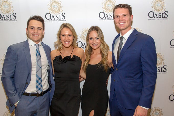Lexie Chemalis, Jay Healey, Mikki Granatell, Zach Cherhalis. Oasis held its 23rd annual Gala of Hope at The Venetian in Garfield. 04/05/2019