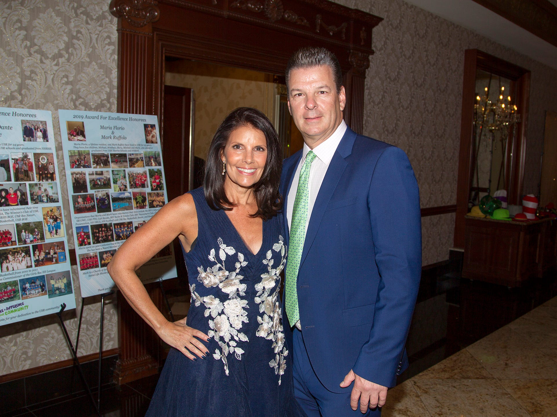 Honorees Christine and Dante Ferrarie.  Upper Saddle River Education Foundation hosted its Town Night Out Gala at Seasons in Washington Twp. 04/06/2019