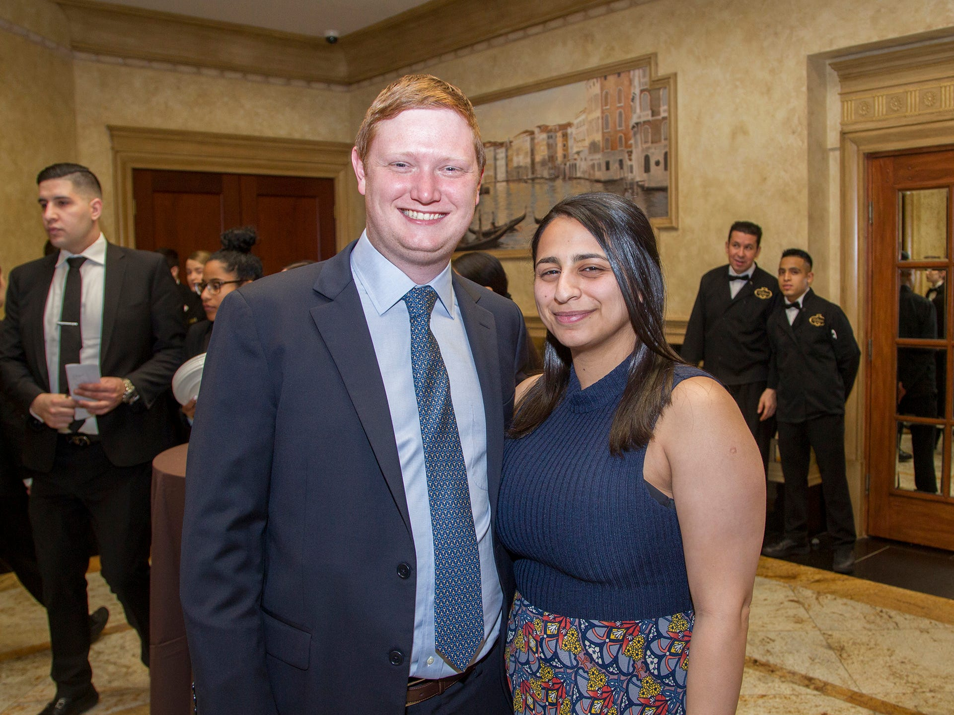 Colin Maher, Dina Zeidan. Oasis held its 23rd annual Gala of Hope at The Venetian in Garfield. 04/05/2019