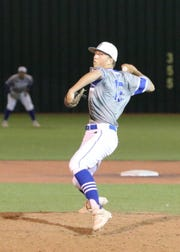 Robert Nidy pitches against Artesia on April 9. Against Roswell on April 25 he threw a six-inning complete game to lead Carlsbad to a 12-2 win.