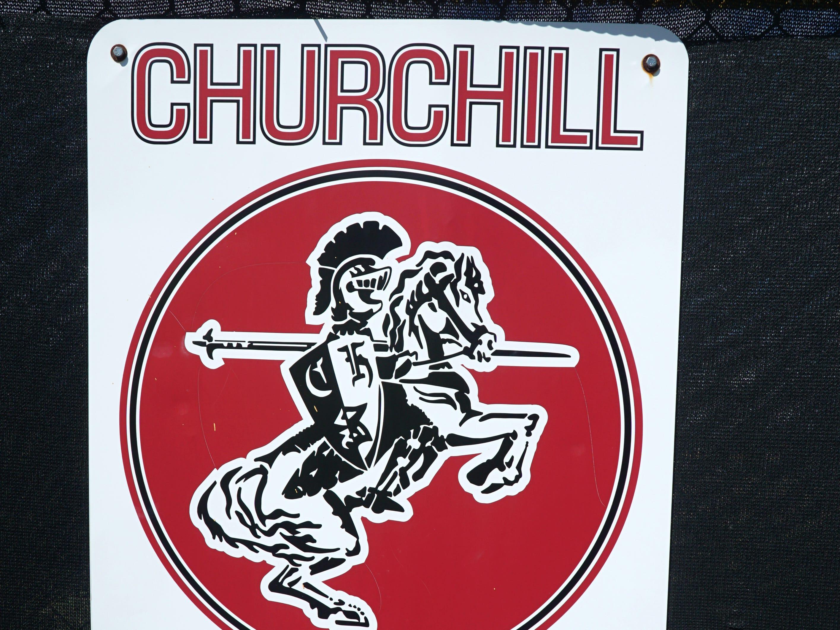 Livonia Churchill Softball logo.
