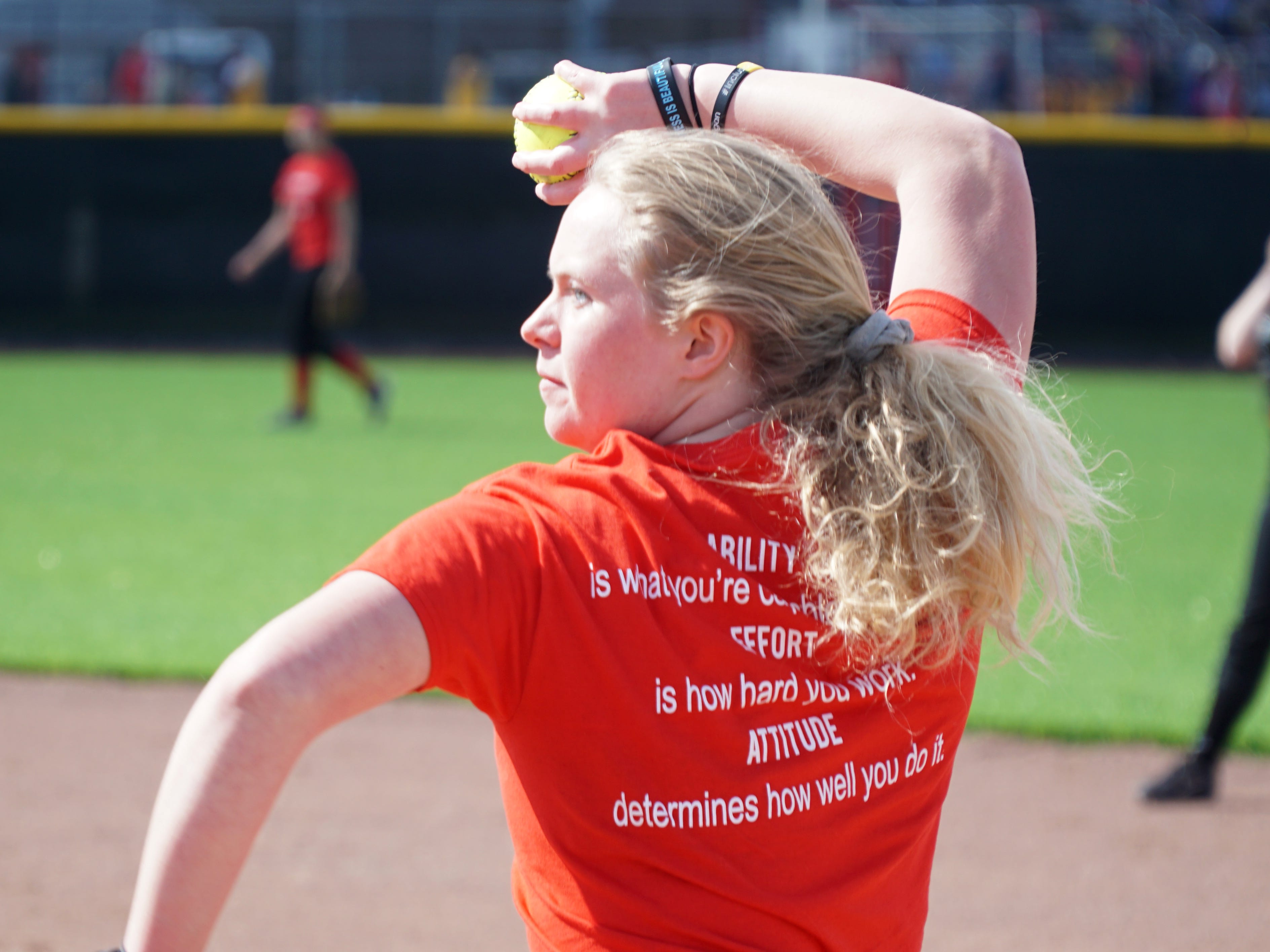 Livonia Churchill Charger softball player Morgan Price.