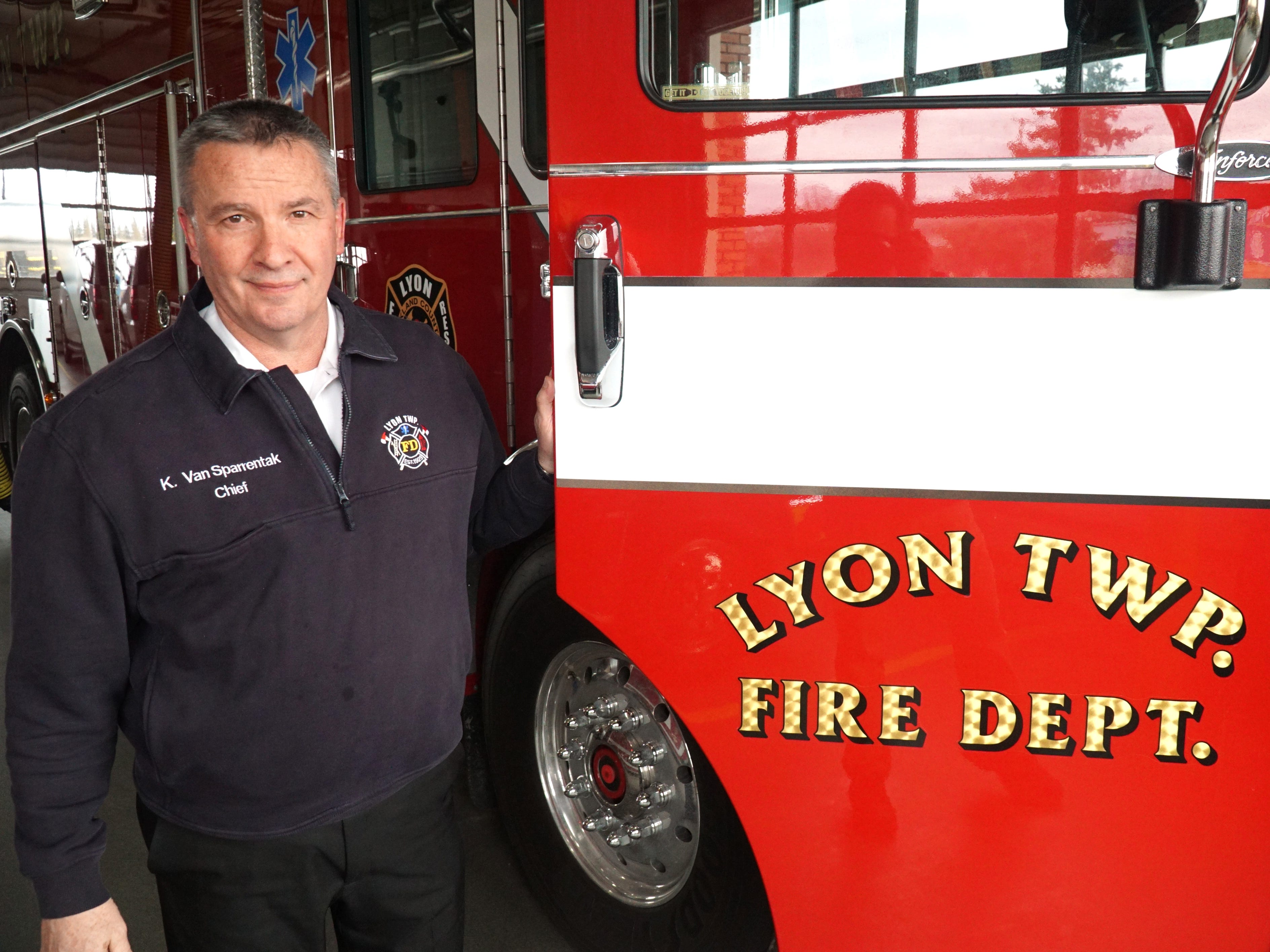 Lyon Township Fire Chief Ken Van Sparrentak.