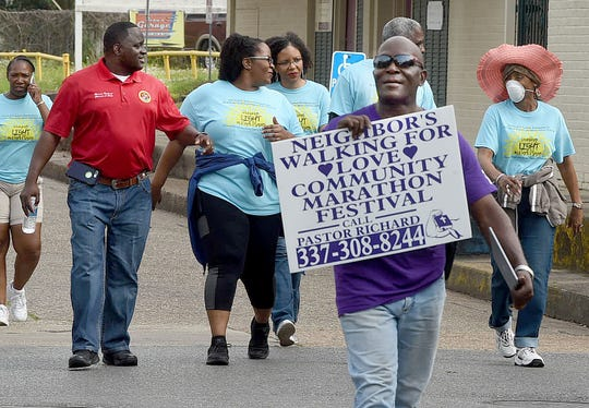 CASA (Court Appointed Special Advocates) annual anti-violence march held in Opelousas on Saturday, April 6.