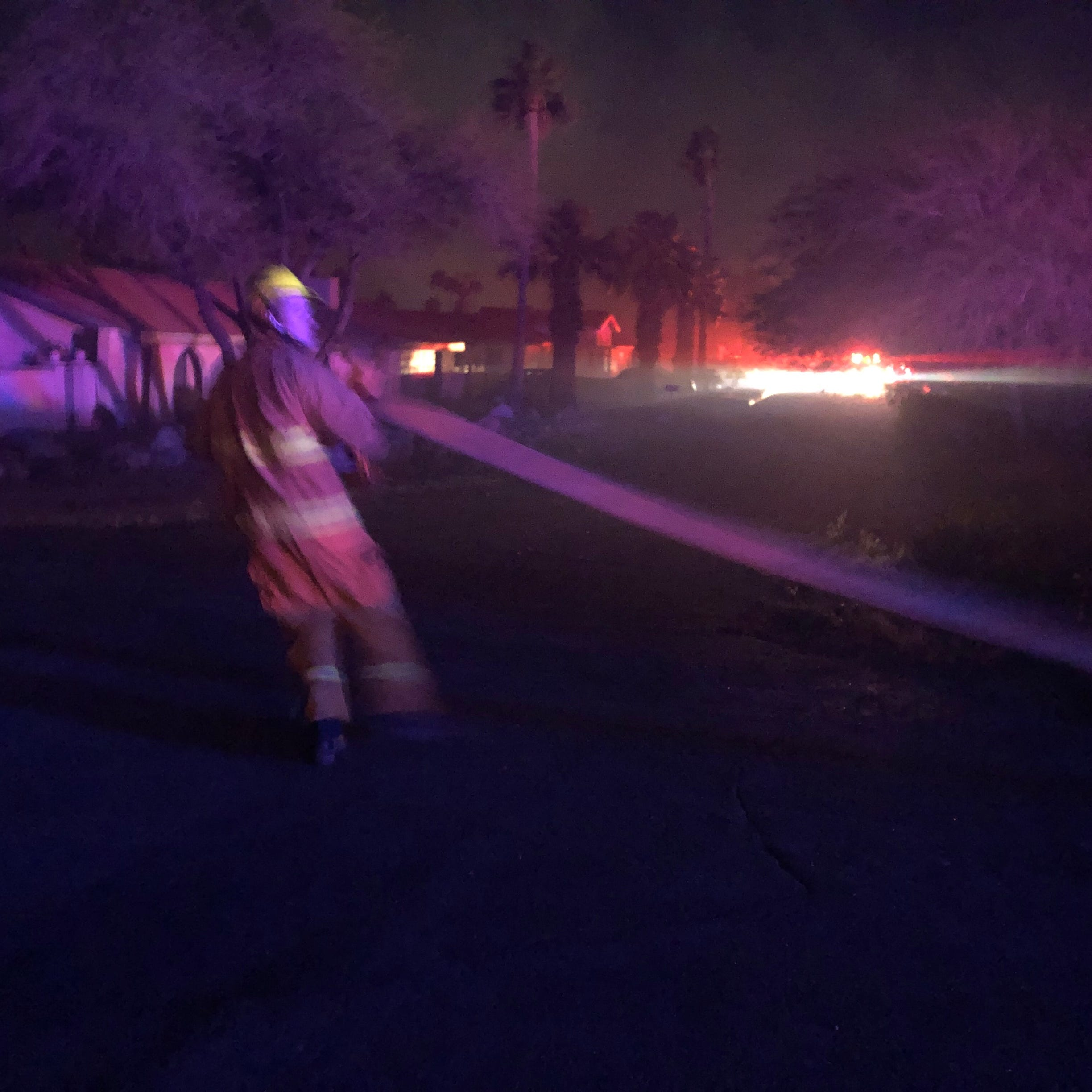 Evacuations underway in Palm Springs as brush fire burns north of downtown