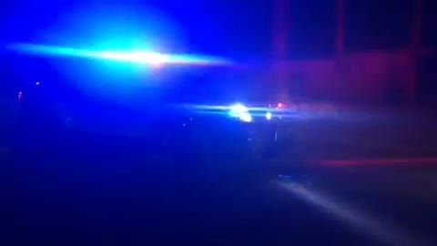 Palm Springs police closed a portion of Palm Canyon Drive on Thursday evening.