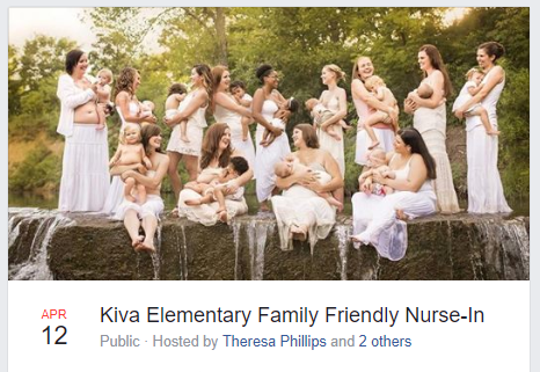 Theresa Phillips, a mother who wasasked to move to a more private area while breastfeeding at Kiva Elementary in Scottsdale school, is returning to the campus to breastfeed, but this time with other moms.