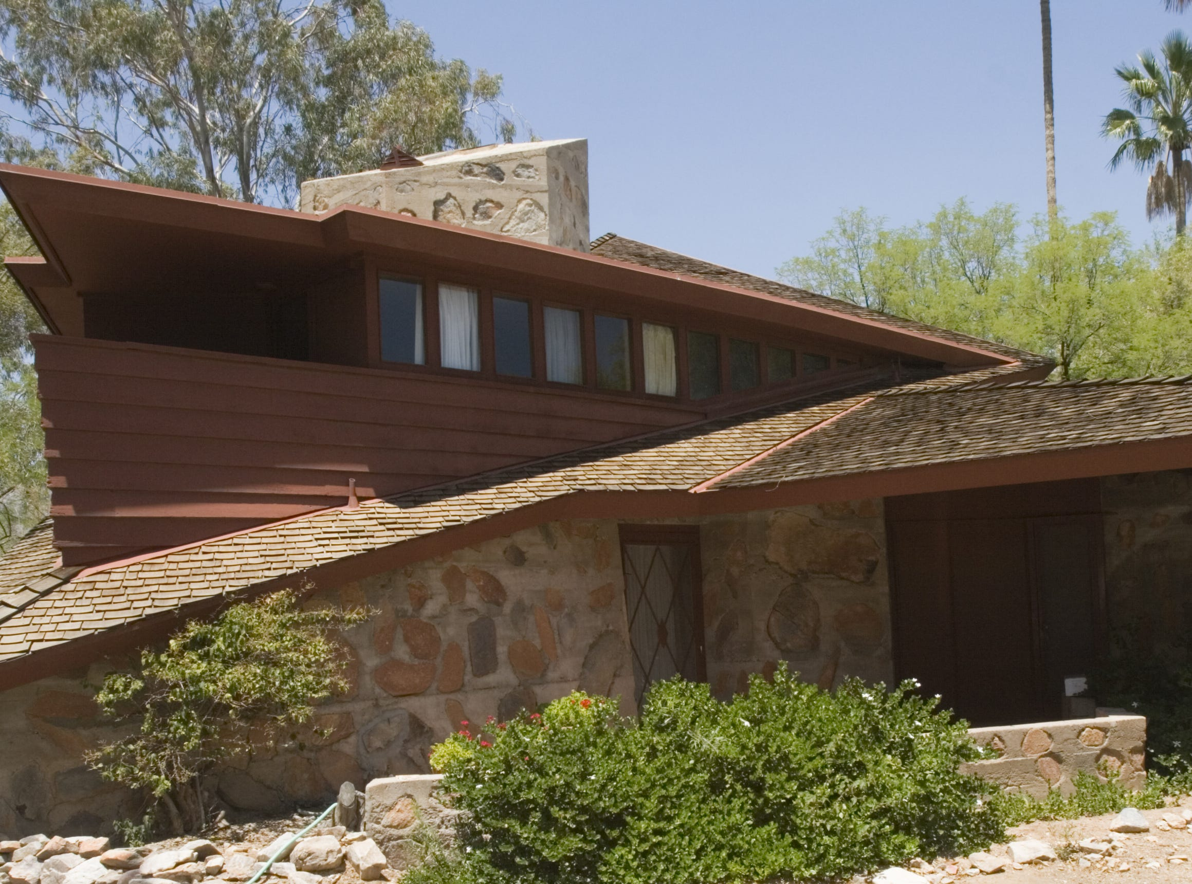 The Boomer Cottage is one of seven surviving private homes in metro Phoenix designed by Frank Lloyd Wright.
